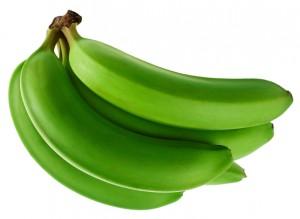 Banana fruit bunch isolated on white background